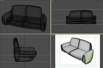 moderan kauč 3d model max 109371