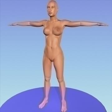 monica 9.0 human female character 3d model 3ds max fbx obj 82027