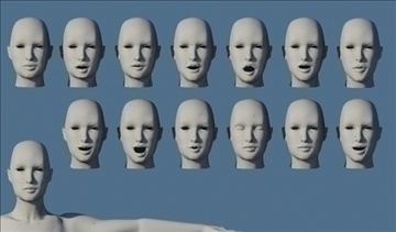 monica 9.0 human female character 3d model 3ds max fbx obj 82028