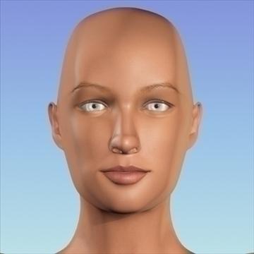 monica 9.0 human female character 3d model 3ds max fbx obj 82030