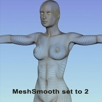 monica 9.0 human female character 3d model 3ds max fbx obj 82033