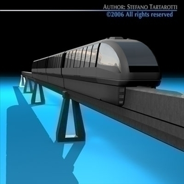 monorail train 3d model 3ds dxf c4d obj 81070