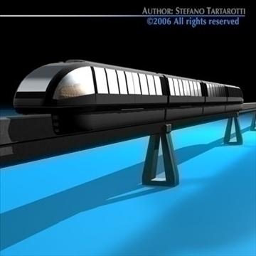 monorail train 3d model 3ds dxf c4d obj 81071