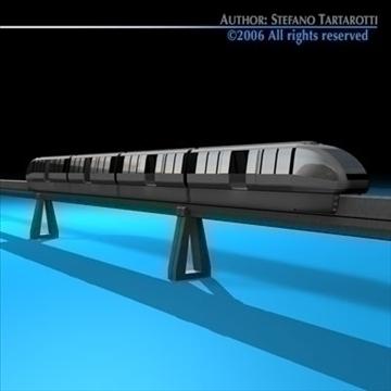 monorail train 3d model 3ds dxf c4d obj 81072