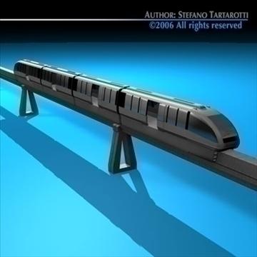 monorail train 3d model 3ds dxf c4d obj 81073