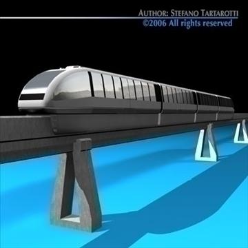 monorail train 3d model 3ds dxf c4d obj 81074