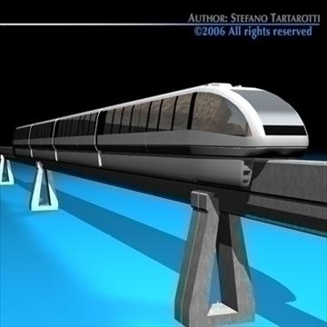 monorail train 3d model 3ds dxf c4d obj 81075