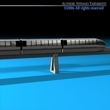 monorail train 3d model 3ds dxf c4d obj 81076