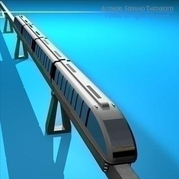 monorail train 3d model 3ds dxf c4d obj 81077
