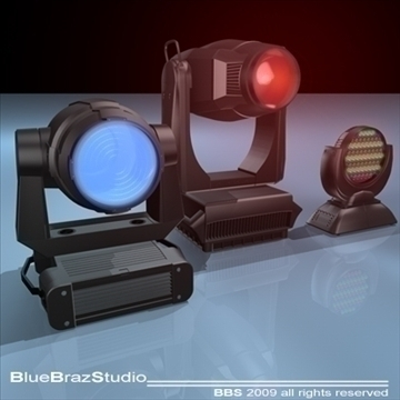 moving heads collection 3d model 3ds dxf c4d obj 96541