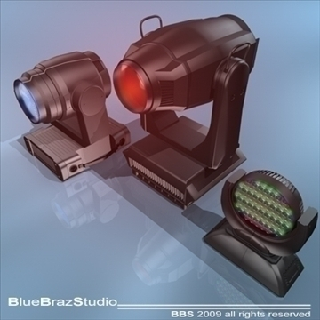 moving heads collection 3d model 3ds dxf c4d obj 96542