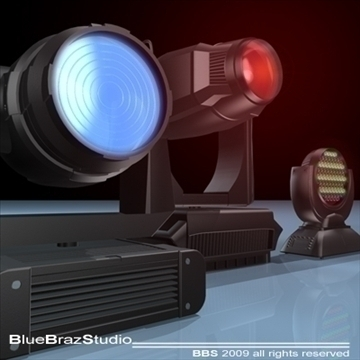 moving heads collection 3d model 3ds dxf c4d obj 96543