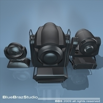 moving heads collection 3d model 3ds dxf c4d obj 96544