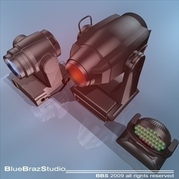 moving heads collection 3d model 3ds dxf c4d obj 96546