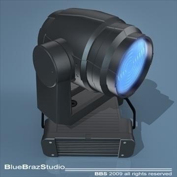 moving heads wash light 3d model 3ds dxf c4d obj 96443