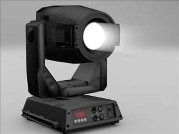 moving spotlight stage light 3d model 3ds c4d texture 112168