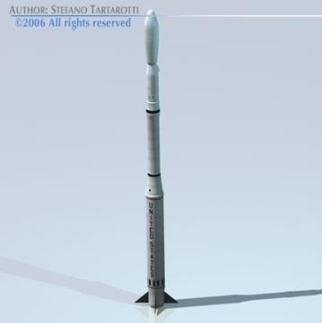 nasa scout raketa 3d model 3ds obj drugi 78874