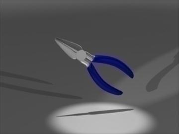 needle-nose pliers 3d model 3ds 81232