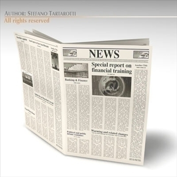newspaper 3d model 3ds dxf c4d obj 106214