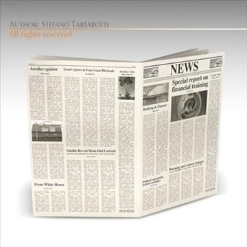 newspaper 3d model 3ds dxf c4d obj 106215