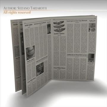 newspaper 3d model 3ds dxf c4d obj 106216