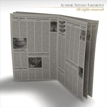 newspaper 3d model 3ds dxf c4d obj 106217