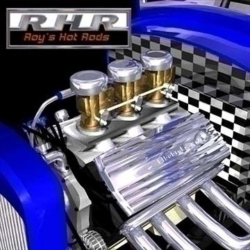 nostalgia hot rod coupe 3d model lwo 82084