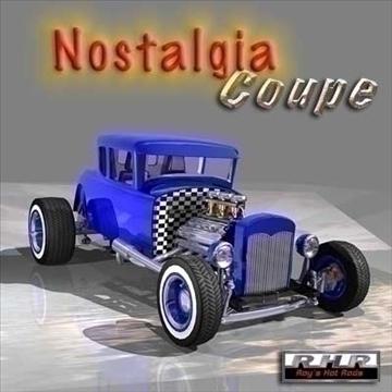 nostalgia hot rod coupe 3d model lwo 82088