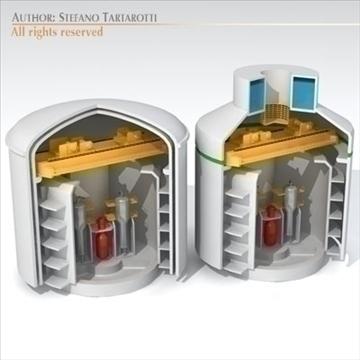 nüvə reaktor binası 3d modeli 3ds dxf c4d obj 105937