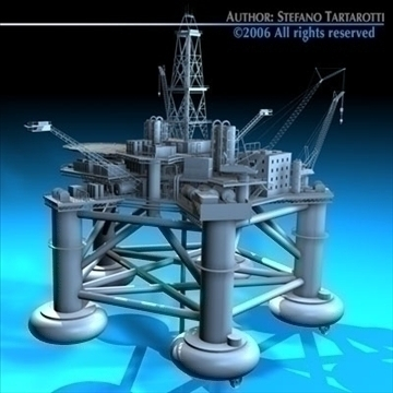 oil platform 3d model 3ds dxf c4d obj 82269