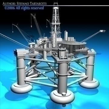 oil platform 3d model 3ds dxf c4d obj 82270