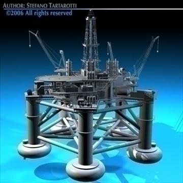 oil platform 3d model 3ds dxf c4d obj 82272