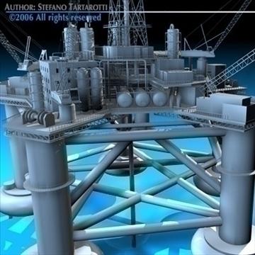 oil platform 3d model 3ds dxf c4d obj 82276