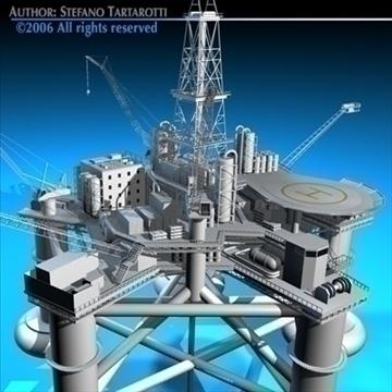 oil platform 3d model 3ds dxf c4d obj 82277