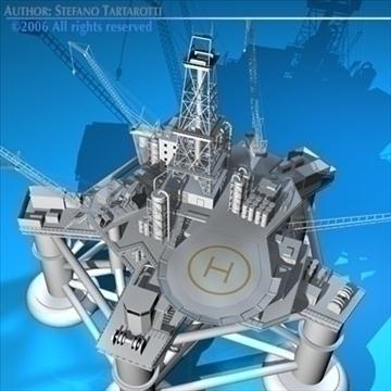 oil platform 3d model 3ds dxf c4d obj 82278