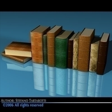 old books 3d model 3ds dxf c4d obj 81322
