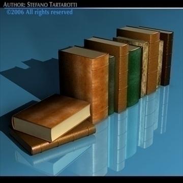 old books 3d model 3ds dxf c4d obj 81323