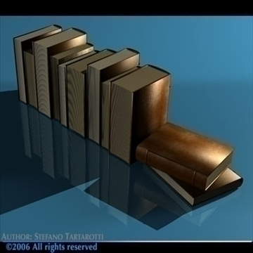 old books 3d model 3ds dxf c4d obj 81324