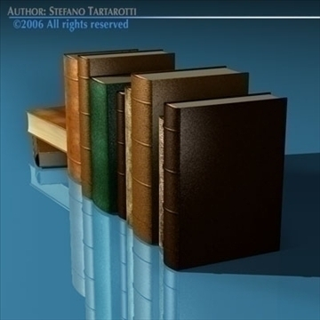 old books 3d model 3ds dxf c4d obj 81325