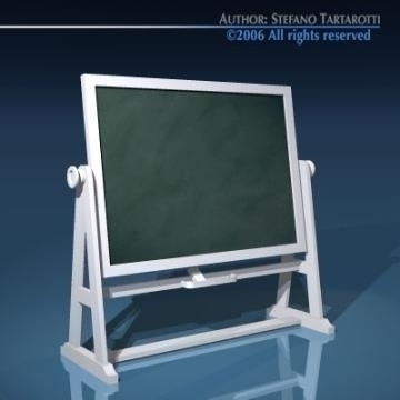old school blackboard 3d model 3ds dxf other obj 78380