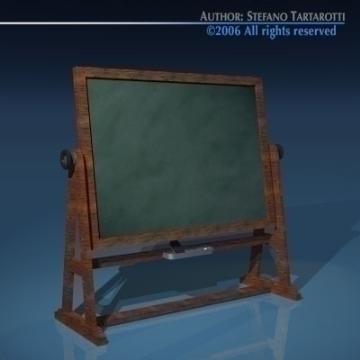 old school blackboard 3d model 3ds dxf other obj 78381