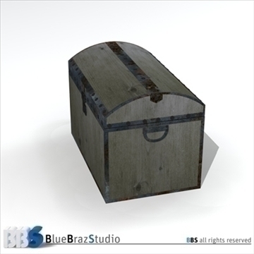old trunk 3d model 3ds dxf c4d obj 106865