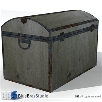 old trunk 3d model 3ds dxf c4d obj 106866