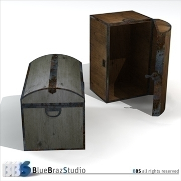 old trunk 3d model 3ds dxf c4d obj 106867