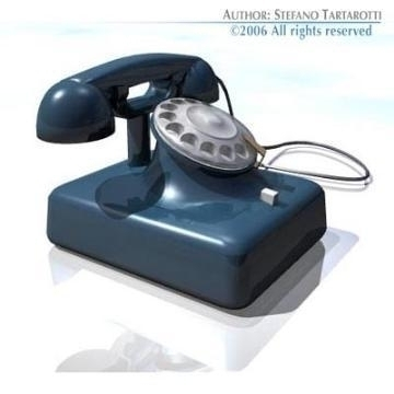 oldphone 3d model 3ds obj 78414 arall