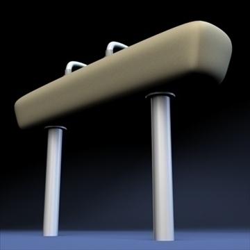 olympic pommel horse.zip 3d model 3ds dxf fbx c4d x obj 88504