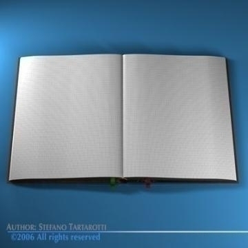 açıq kitab 3d model 3ds c4d obj 77606
