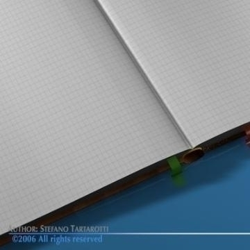 open book 3d model 3ds c4d obj 77607