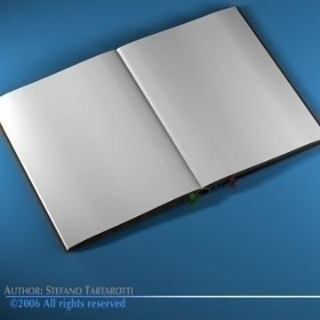 open book 3d model 3ds c4d obj 77608
