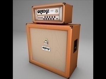 orange ad140 amp half stack 3d model 3ds dxf fbx c4d x obj 85445